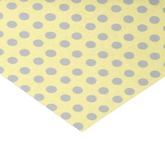 浅い黄色および灰色の水玉模様 薄葉紙