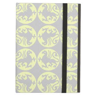 浅い黄色および灰色Gryphonsのシルエットパターン- iPad Airケース