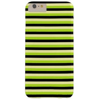 浅い黄色、ライムグリーンおよび黒のストライプ BARELY THERE iPhone 6 PLUS ケース