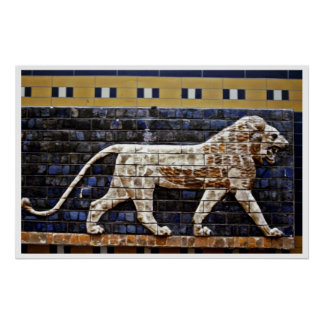 浅浮き彫り、Ishtarのライオンのゲート-イスタンブール ポスター