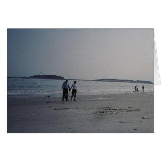 浜のロマンチックな歩行 カード