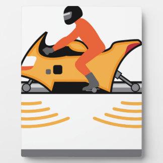 浮かぶオートバイ フォトプラーク