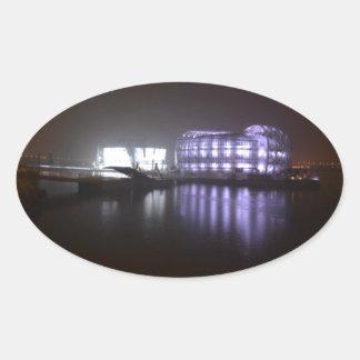 浮遊島 楕円形シール