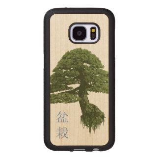 浮遊盆栽の木の木製の銀河系S7の箱(かえで) ウッドSamsung GALAXY S7 ケース