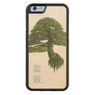 浮遊盆栽の木の木製のiPhone6ケース(かえで) CarvedメープルiPhone 6バンパーケース