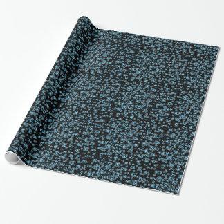 浮遊青い雪片の包装紙 ラッピングペーパー