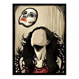 浮遊顔 ポストカード