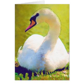 浴する白鳥 カード