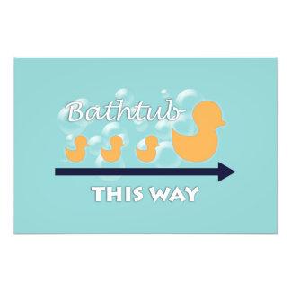 """浴室の壁の芸術は-写真のプリントを""""続けて""""引込めます フォトプリント"""