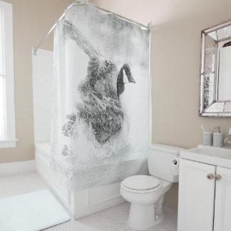 浴室を取っているカナダのガチョウ シャワーカーテン