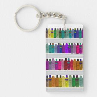 -浴室、サロン等のための…ボトルの虹を石鹸で洗って下さい キーホルダー