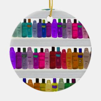 -浴室、サロン等のための…ボトルの虹を石鹸で洗って下さい セラミックオーナメント