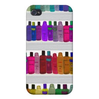 -浴室、サロン等のための…ボトルの虹を石鹸で洗って下さい iPhone 4 ケース