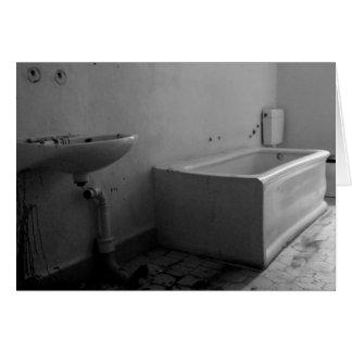 浴室(白黒) カード