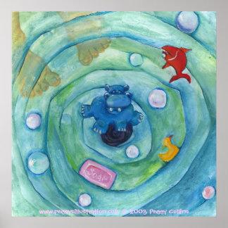 浴槽のカバ ポスター