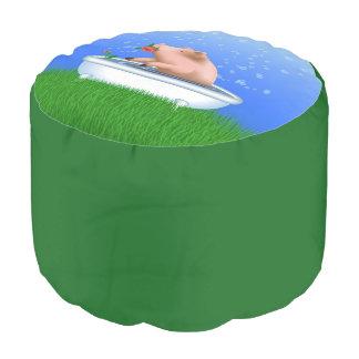 浴槽のブタ プーフ
