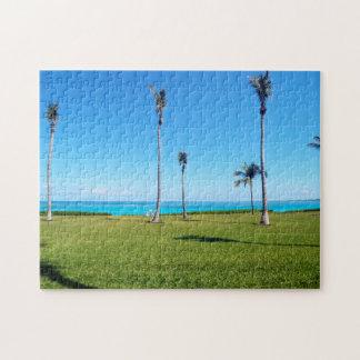 海およびやし景色 ジグソーパズル