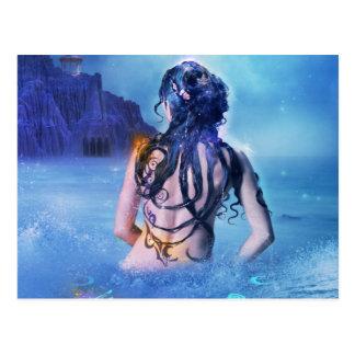 海および夜郵便はがきの女神 ポストカード