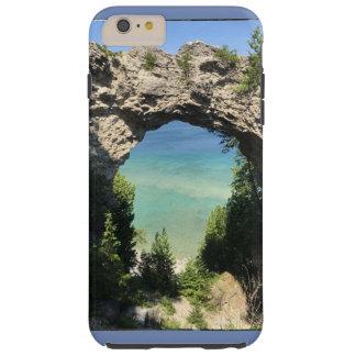 海および崖の電話箱の写真 TOUGH iPhone 6 PLUS ケース