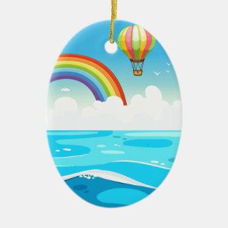 海および虹 セラミックオーナメント