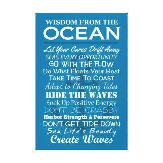 海からの知恵 キャンバスプリント