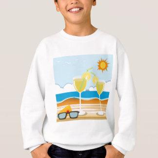 海によるカクテルグラス スウェットシャツ
