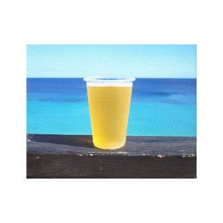 海による冷えたビール キャンバスプリント