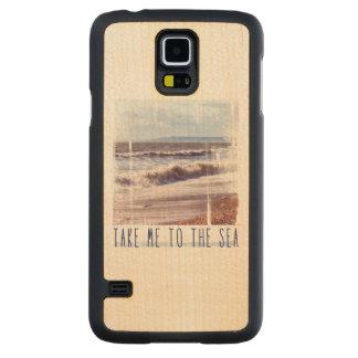 海に私を連れて行って下さい CarvedメープルGalaxy S5スリムケース