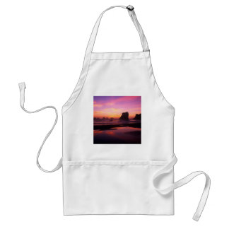 海のたそがれの反射のビーチオレゴン スタンダードエプロン