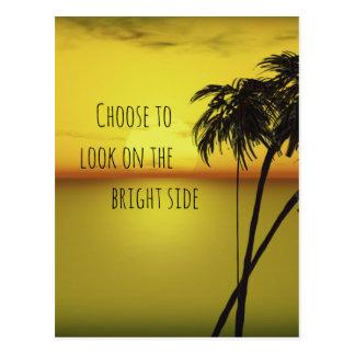 海のやる気を起こさせるな明るい面の引用文 ポストカード