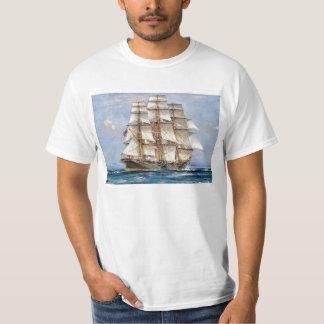 海のアメリカのクリッパーの主権者 Tシャツ