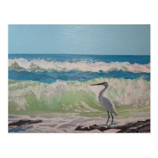 海のアートワークによる鷲 ポストカード