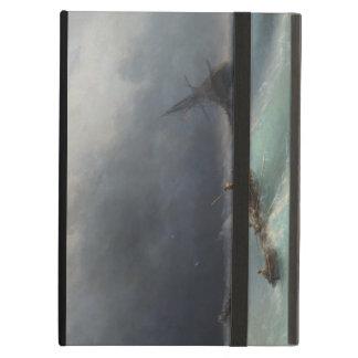 海のイヴァンAivasovskyの海景のwaterscapeの嵐 iPad Airケース