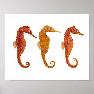 海のウマ科のな三重項 ポスター