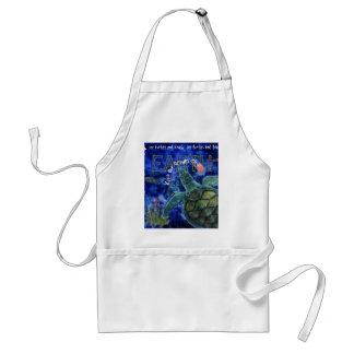 海のウミガメの芸術をきれいにして下さい スタンダードエプロン