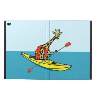 海のカヤックの漫画のキリン POWIS iPad AIR 2 ケース