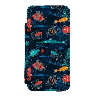 海のカラフルな魚 INCIPIO WATSON™ iPhone 5 財布 ケース