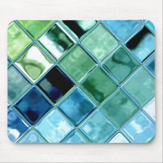 海のガラスタイルのモザイク芸術のマウスパッドを開けて下さい マウスパッド