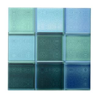 海のガラスモザイクセラミックタイルの~のtrivetかギフト用の箱 タイル