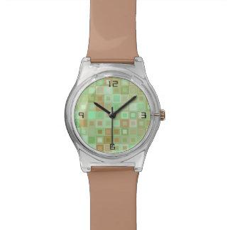 海のガラスモザイク腕時計 腕時計