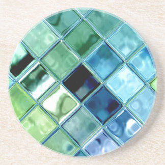 海のガラスモザイク・タイルの芸術 コースター