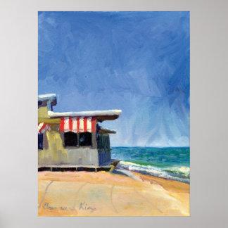 海のグリルのプリント ポスター