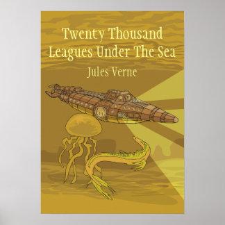 海のジュール・ヴェルヌの下の20,000人のリーグ ポスター