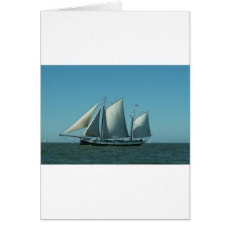 海のスクーナー船 カード