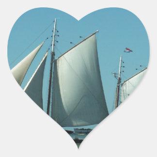 海のスクーナー船 ハートシール