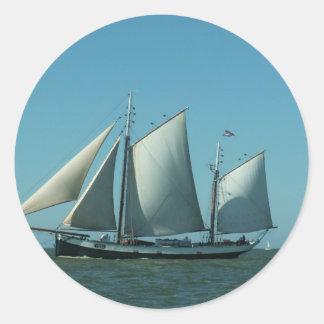 海のスクーナー船 ラウンドシール