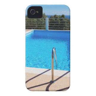 海のステップの青いプール Case-Mate iPhone 4 ケース