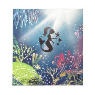 海のスプレー式塗料の芸術の人魚 ノートパッド