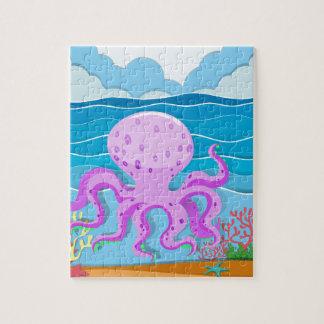 海のタコ ジグソーパズル