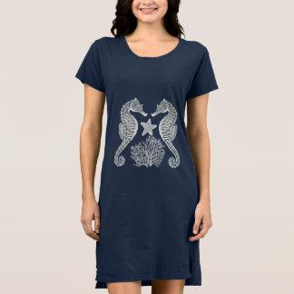 海のタツノオトシゴの珊瑚のヒトデの服 ドレス